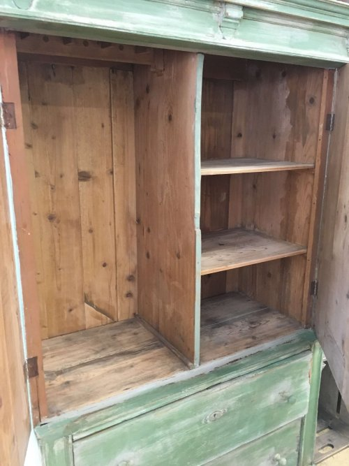 Vintage Painted pine unit