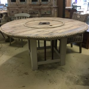 reclamation, table, cable drum