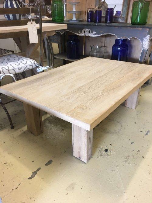 coffee table oak reclaimed wood