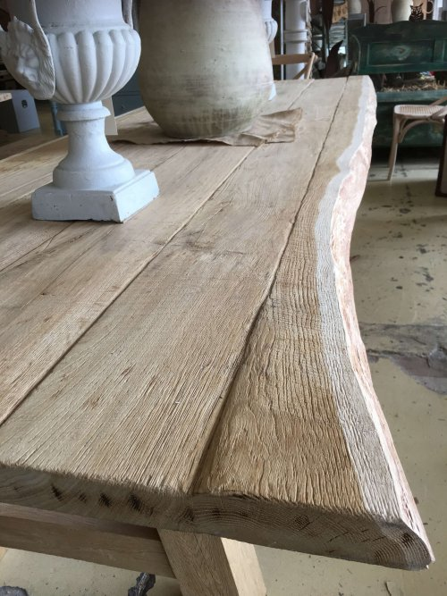 large, oak, waney, table,