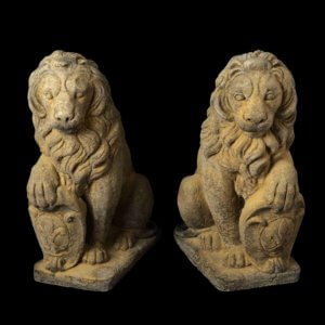 stone statuary lions stone, statuary, garden, pots, urns, surrey