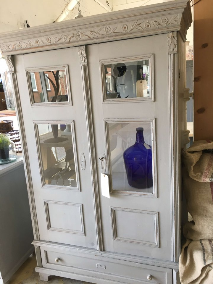 ArkVintage Painted Cabinet/Cupboard From France