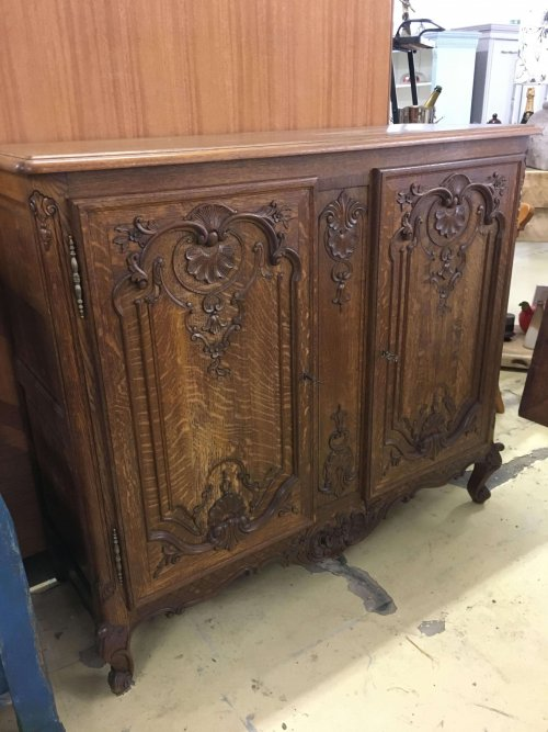 Sideboard, vintage French oak.