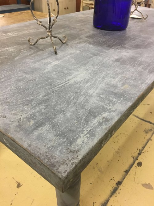 table vintage industrial metal top
