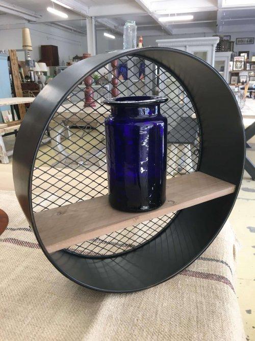 Round wall shelf industrial