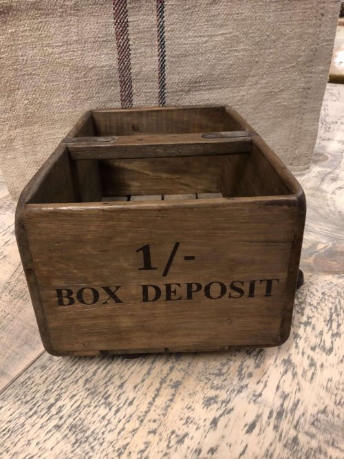 Vintage style boxes crates trugs wooden stencilled