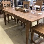 Elm Wood Dining Table 180cm x 85cm. Beautiful colour, patina and grain. Reclaimed timber. See pictures for more detail. £875.