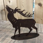 Rusty Metal Deer from arkvintage.com. Lazer cut steel left to naturally rust. Great for indoors or out. Only one left. £18.95. Delivery £3.95 to main land UK.