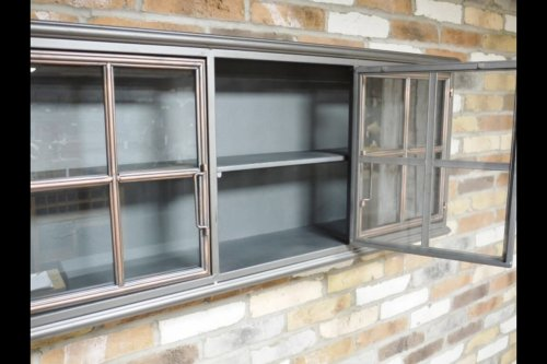 Metal 3 Door Wall Cabinet industrial shelf storage