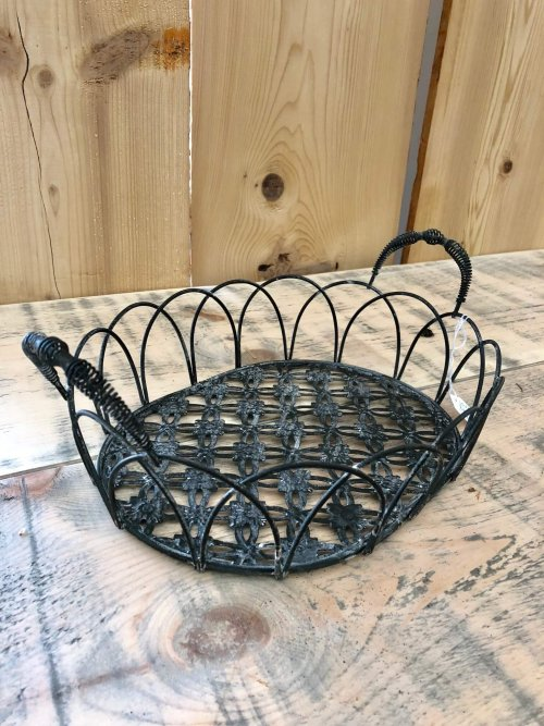 Metal Baskets from arkvintage Camberley Surrey store shop buy beautifully made from metal, and come in 4 sizes.