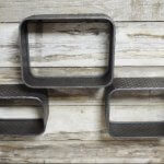 Industrial Style Metal Wall Shelves from arkvintage online buy shop P&P. Great gritty urban look. 3 sizes available, and you can buy the set of 3 too, (1 large 1 medium and 1 small) See pictures for detail and the set of 3.