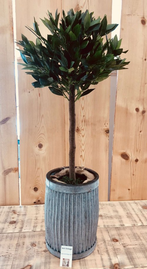Artificial Bay Tree from arkvintage.com. Beautiful, very realistic bay trees. These look fantastic in our vintage inspired planters! Great for indoors in any room, and also outside for parties on the patio etc