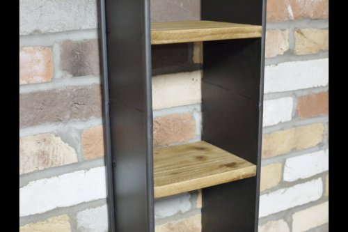 Metal Wood Retro Shelf
