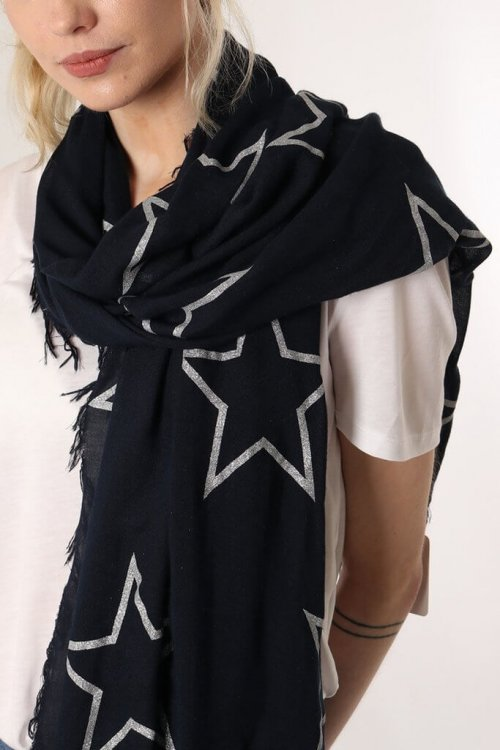 Scarf With Star Designs from arkvintage. 4 Scarves available in different colours and star patterns. Available online and in store, Camberley Surrey. Price includes P&P.