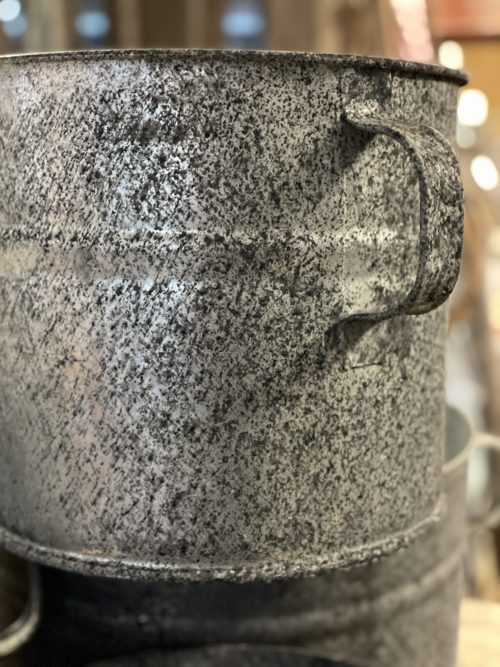 Galvanised Planter Pots 3 Sizes (Now 4) from arkvintage