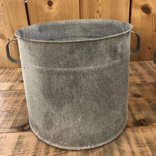 Galvanised Planter Pots 3 Sizes from arkvintage. Beautiful vintage look! These come in 3 different sizes and are fantastic for planting, or as an ice bucket for beer and champagne shop buy now online or in store camberley surrey