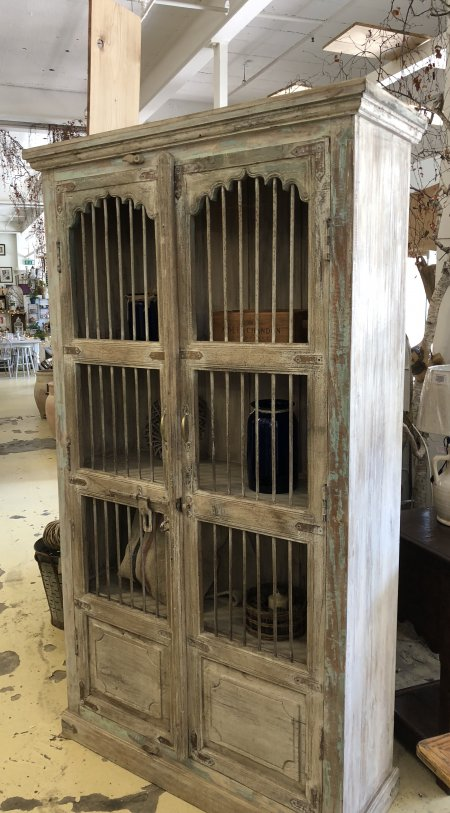 Cabinet Original Old Doors just arrived in store. Stunning with metal bars and original paint! Contact us for more detail arkvintage.com everything you love shop buy vintage homes and gardens camberley surrey