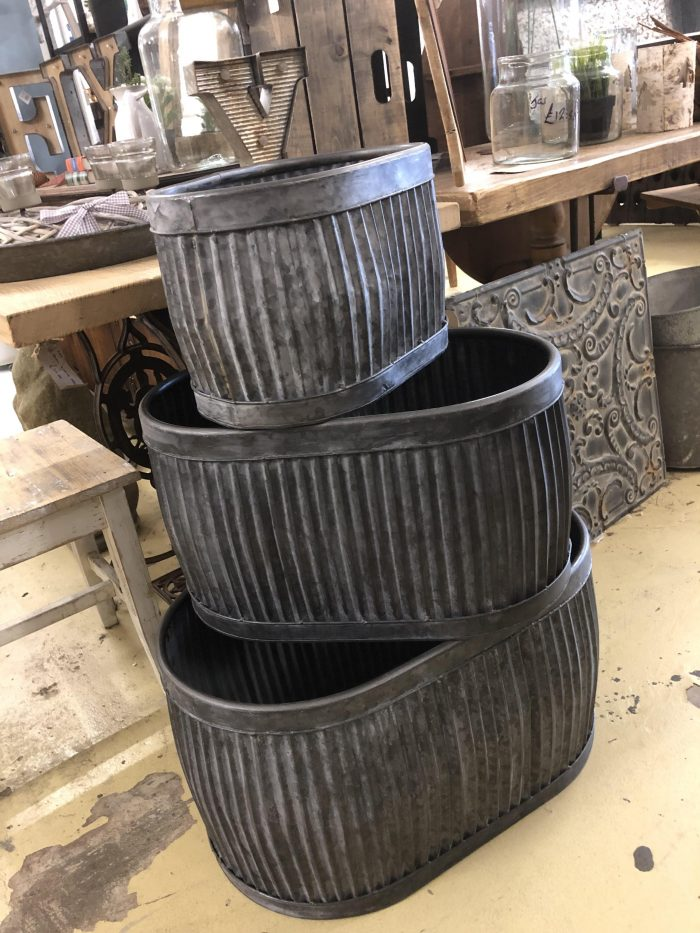 New arrivals vintage antique industrial furniture interiors surrey camberley arkvintage @arkvintagecamberley galvanised planters