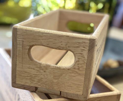 Stencilled Wooden Storage Boxes