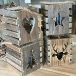 wooden lantern reclaimed wood arkvintage P&P surrey camberley Christmas candle