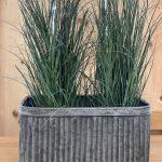 Galvanised Planters oblong handles arkvintage surrey