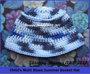 45 Child's Multi Blue Bucket Hat
