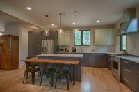 Wood and Steel Kitchen - View 2 - Arlene Dean Homes