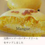 今月のマカロン「マンゴー」