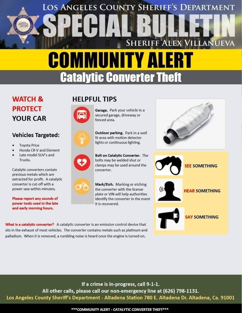 Catalytic Converter Theft