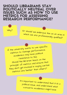 should we be politically neutral - metrics & research performance