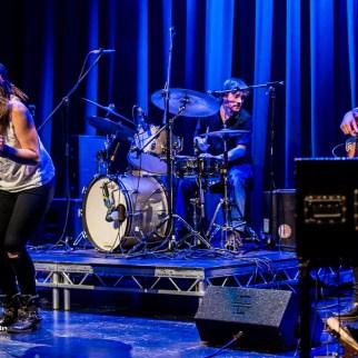 Elles Bailey on vocals, Zak Ranyard on bass & Matthew Jones on d