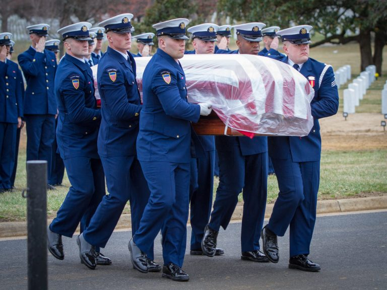 US Coast Guard Casket Team in Section 54