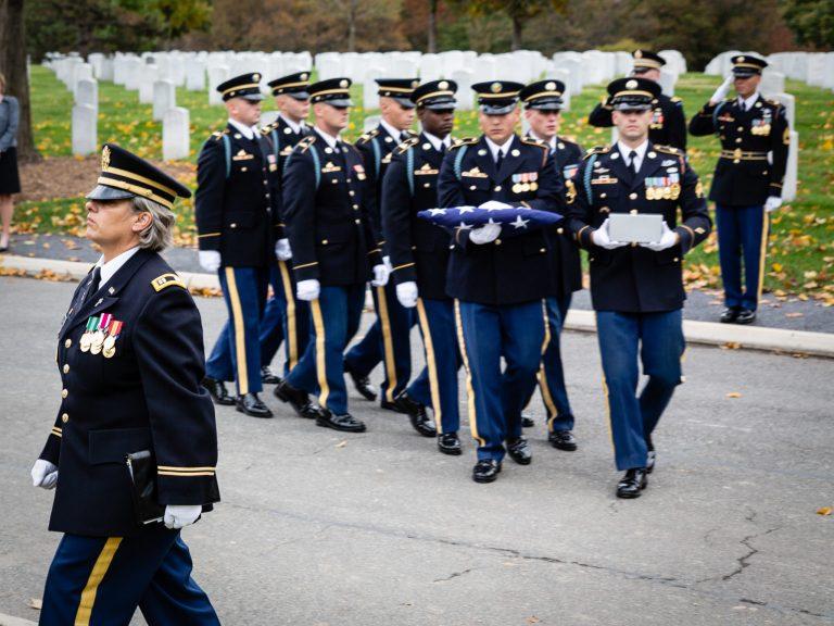 US Army Casket Team on Eisenhower Drive