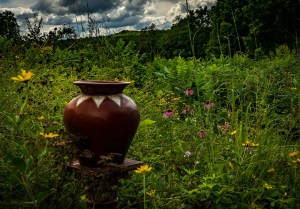 "Mike Garber - ""Urn with Wildflowers"""