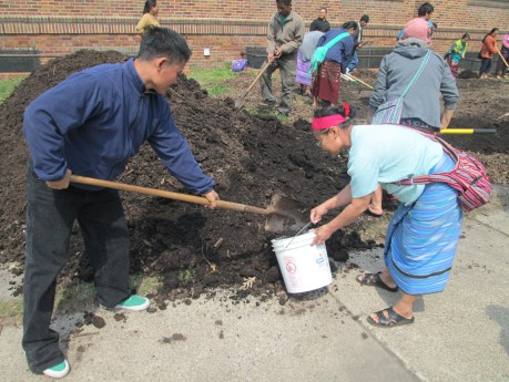Compost will help our veggies and plants to grow strong and healthy.