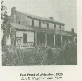 East view of Abingdon (facing Potomac) in 1929 (AHS)