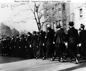 Yeomen (F) on parade in DC, 1918