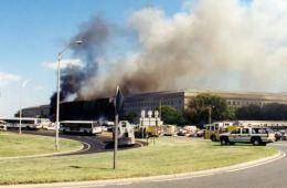 Somke billows from the September 11, 2001 attack on The Pentagon