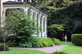 A man juggles on the lawn of the Whittemore-Robbins house. July 31, 2012.