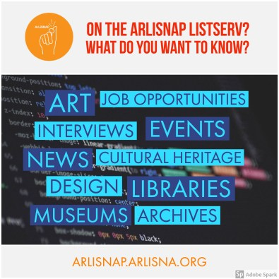 Advertisement to take the 2018 ArLiSNAP Survey