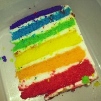 Rainbow Cake n Red Velvet Cake from L'Cheese Factory Pekanbaru