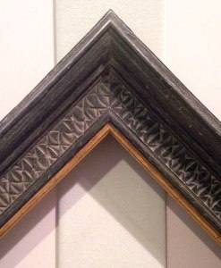 custom carved and lacquer frames