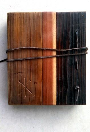 Reclaimed Wood Sketch Book Back