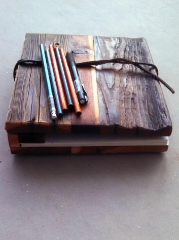 Reclaimed Wood Sketch Book unique texture