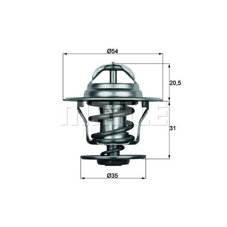Termostats MAHLE ORIGINAL TX 15 87D, 068121113H