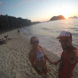 Atardecer en Las Cabañas Beach El Nido Filipinas