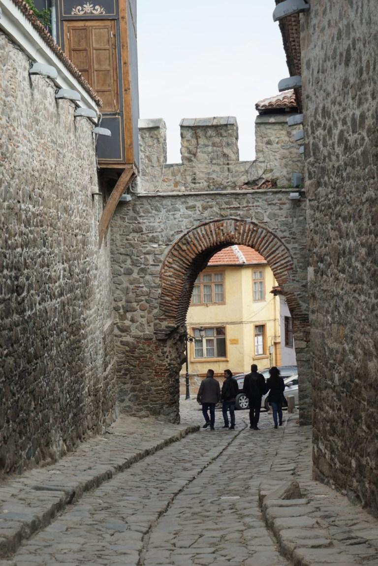 Puerta Medieval en el Old Town Plovdiv