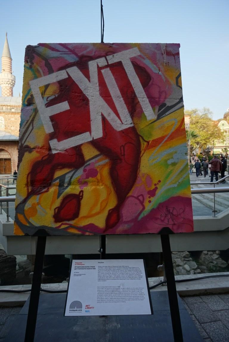 Partes del muro de Berlin exhibidas en la ciudad de la cultura europea 2019