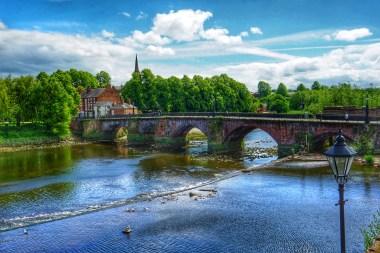 El puente Grosvenor sobre el Río Dee