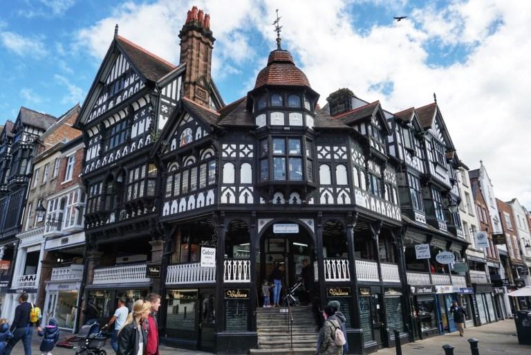 Casas entramadas características de Chester